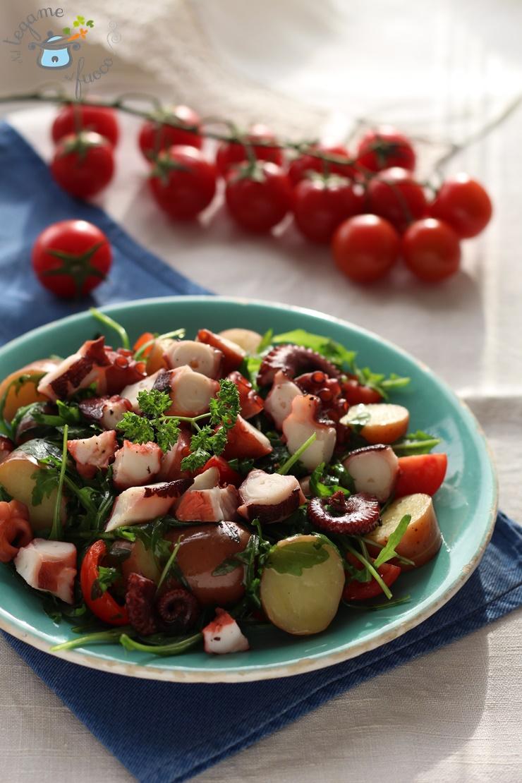 insalata+polpo+patate+rucola+pomodorini