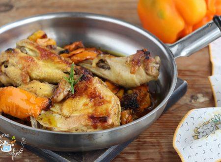 Pollo ruspante ai peperoni in padella