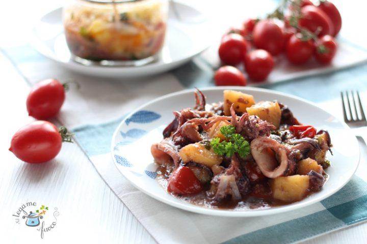 Calamari e patate in vasocottura