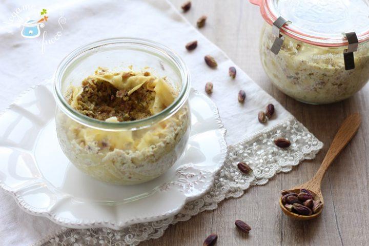 Lasagne al pistacchio in vasocottura