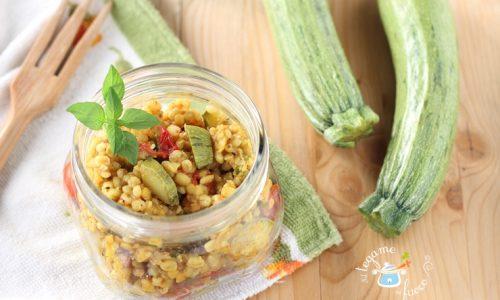 Cereali in vasocottura con zucchine alle spezie