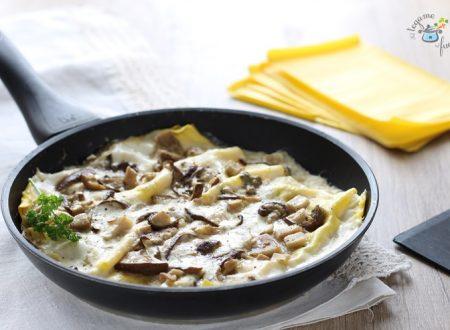 Lasagne ai funghi in padella