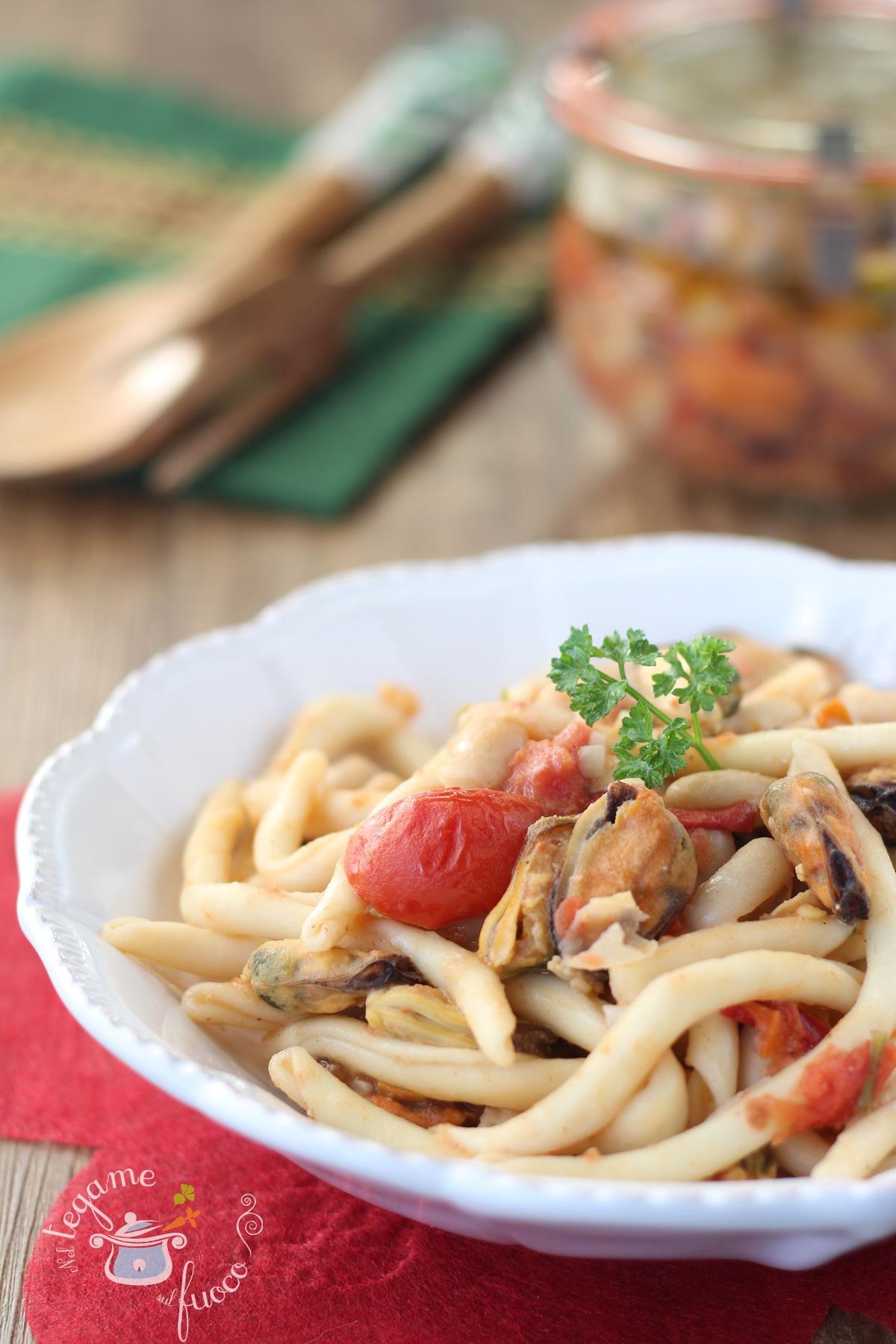 Fileja cozze e fagioli - ricetta della pasta calabrese