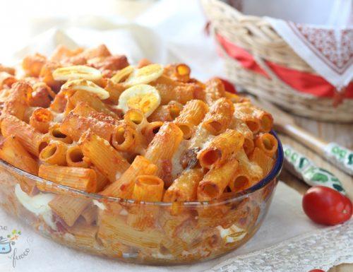 Rigatoni al forno ricetta ricca senza besciamella