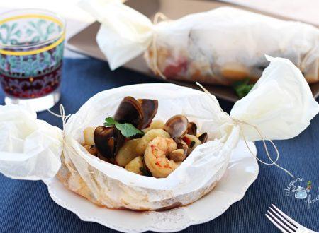 Gnocchi al cartoccio ai frutti di mare
