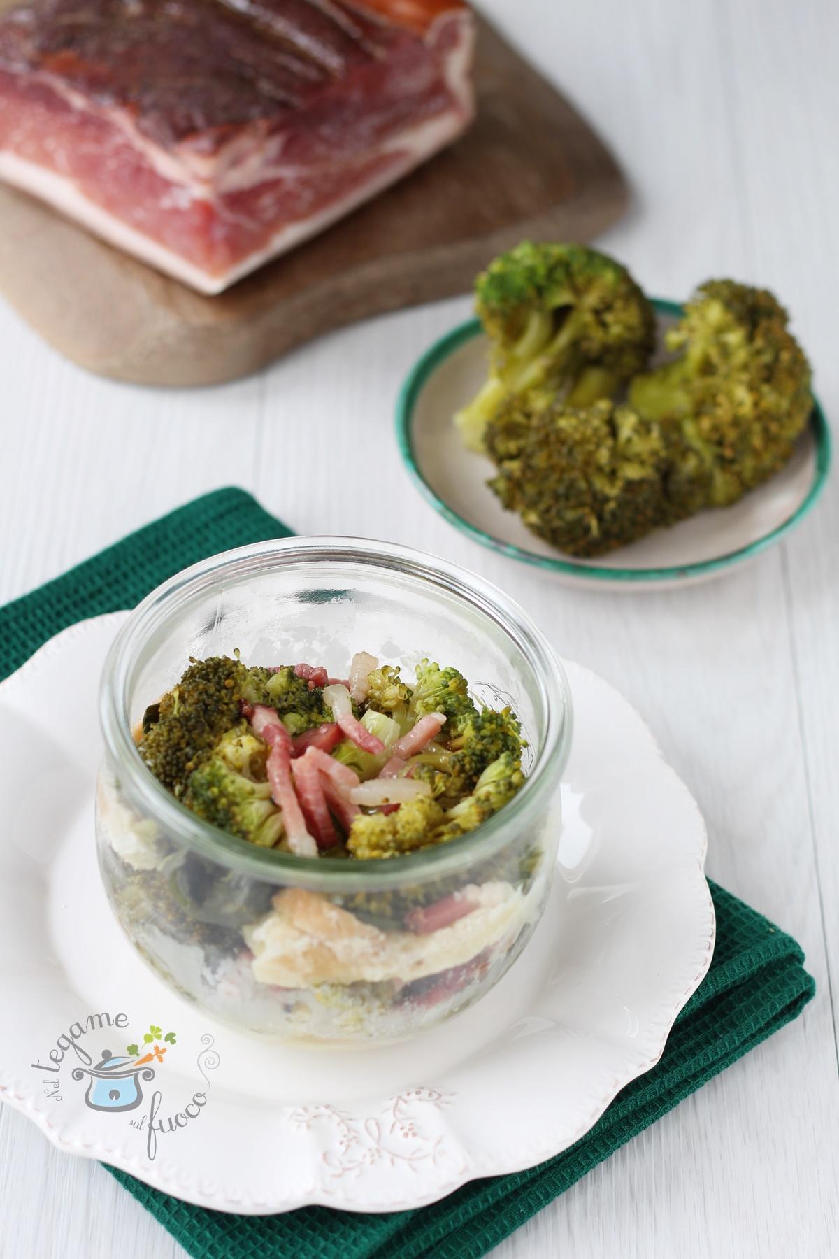 Pasticcio di broccoli in vasetto - cotto al microonde