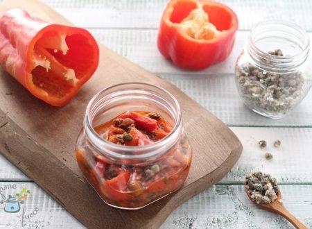 Peperoni e tonno in vasocottura
