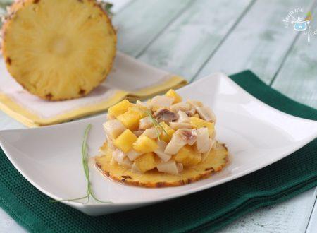 Tartare di pesce spada e ananas
