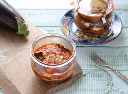 Parmigiana di melanzane in vaso cottura