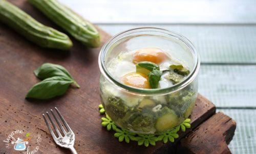 Uova e zucchine in vasocottura