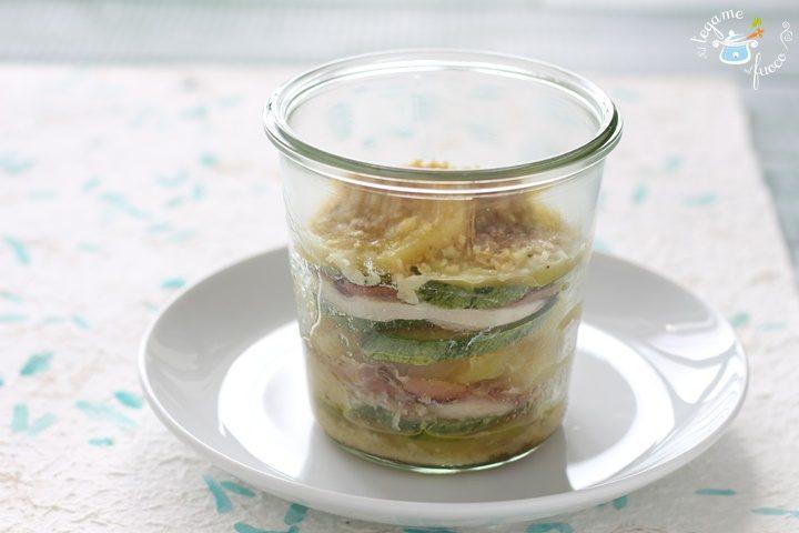 patate pollo e zucchine in vasocottura