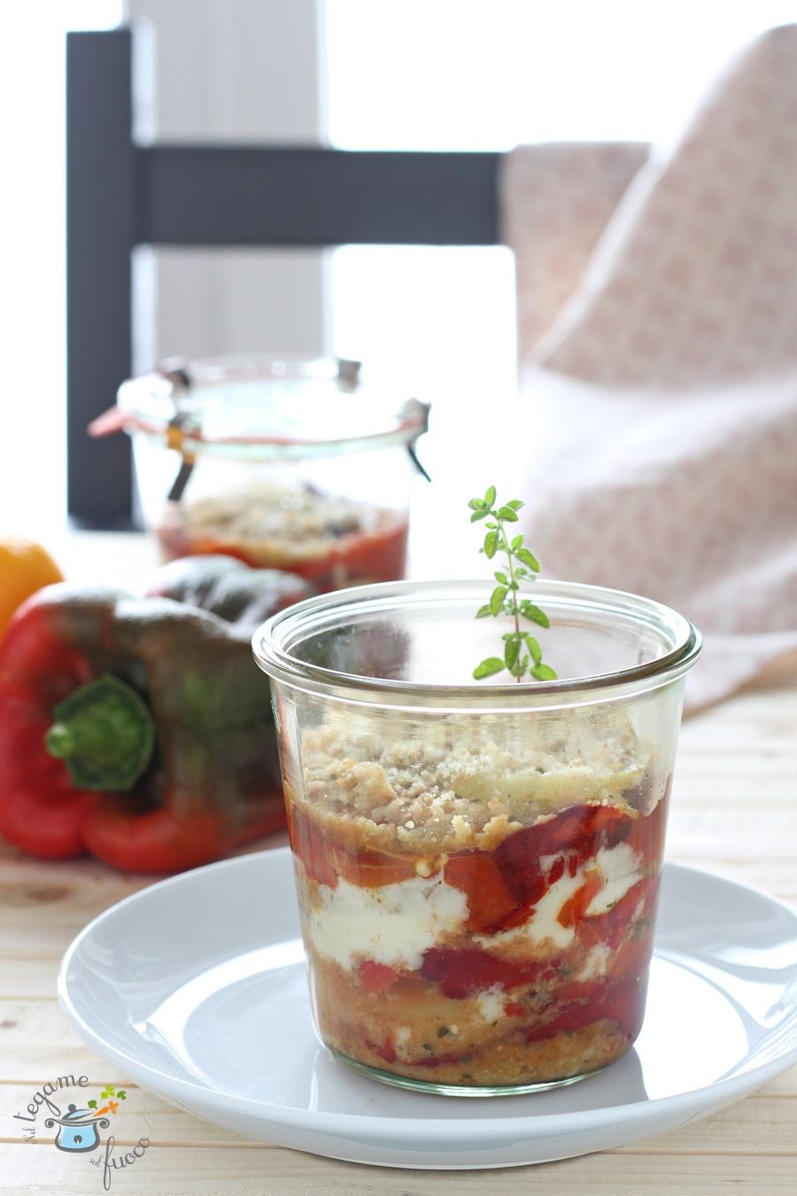cuocere in vasetto peperoni e patate in vasocottura