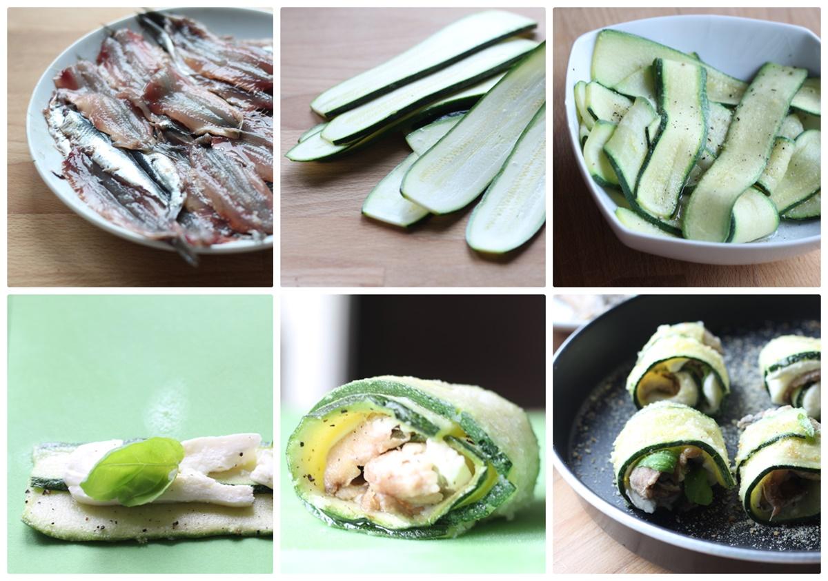 involtini con alici e zucchine