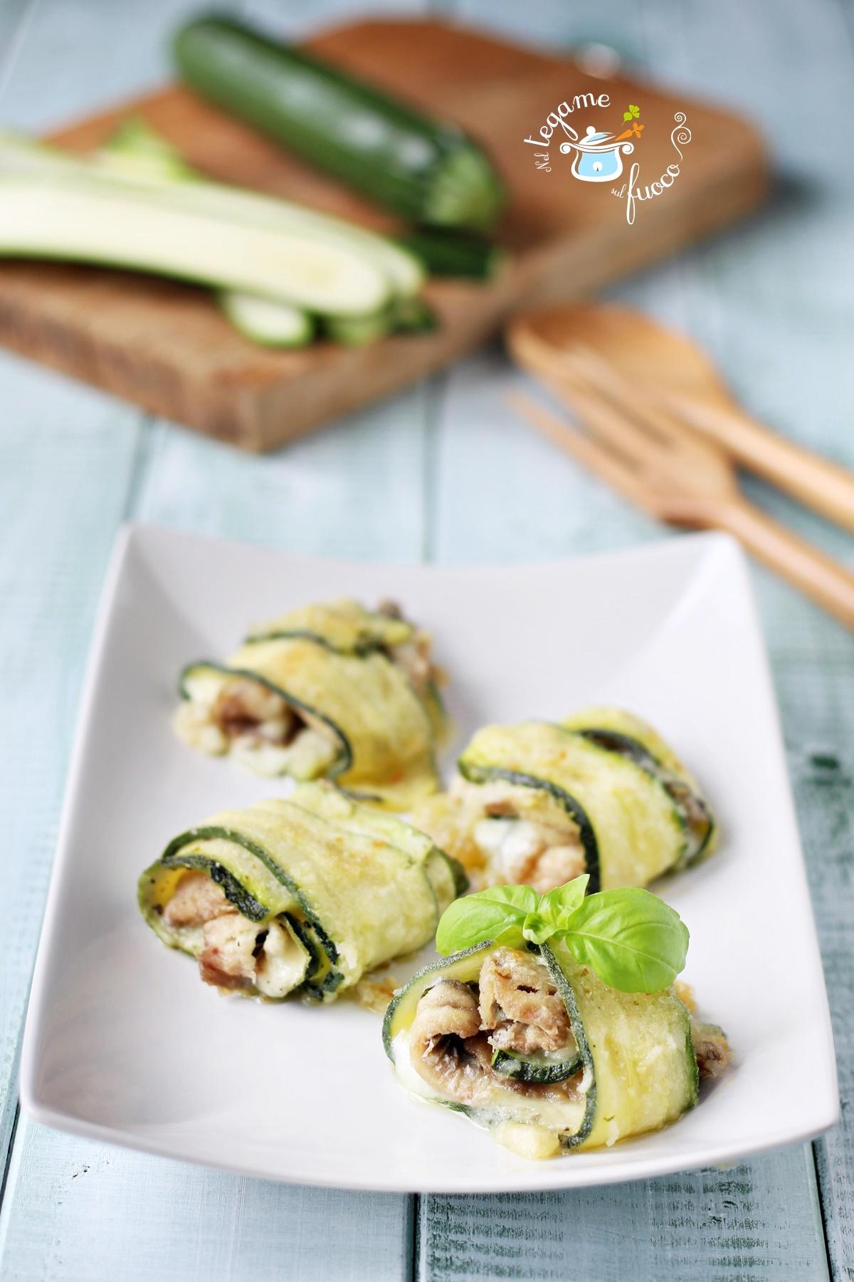 involtini di zucchine e alici ricetta