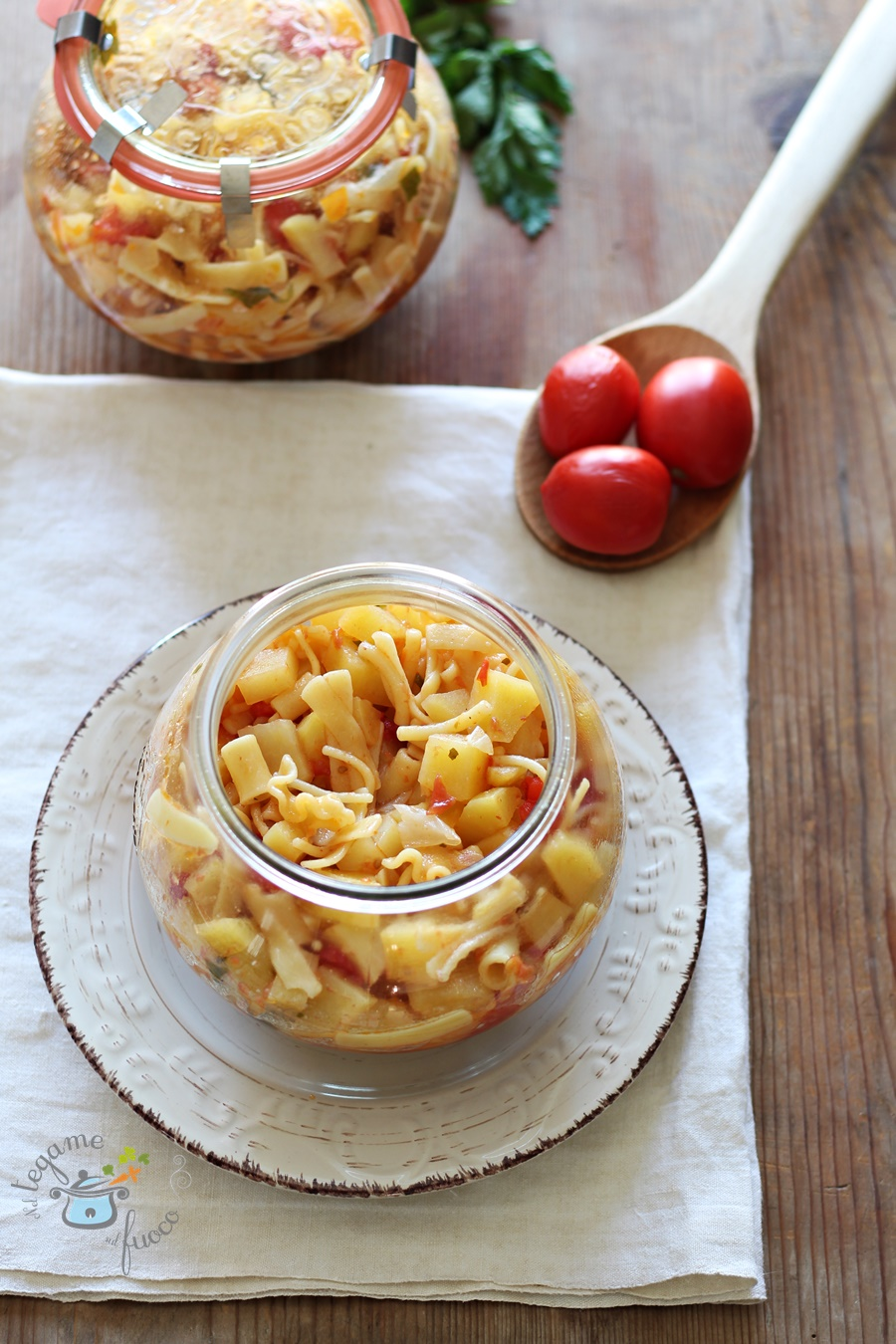ricetta pasta e patate in vasocottura al microonde