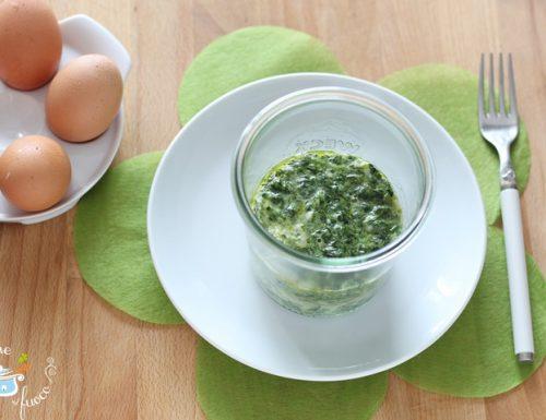Frittata di spinaci in vasocottura