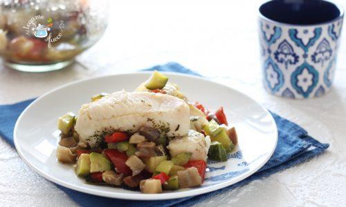 Filetti di merluzzo in vasocottura con verdure