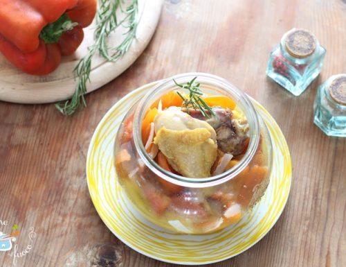 Pollo in vasocottura con peperoni
