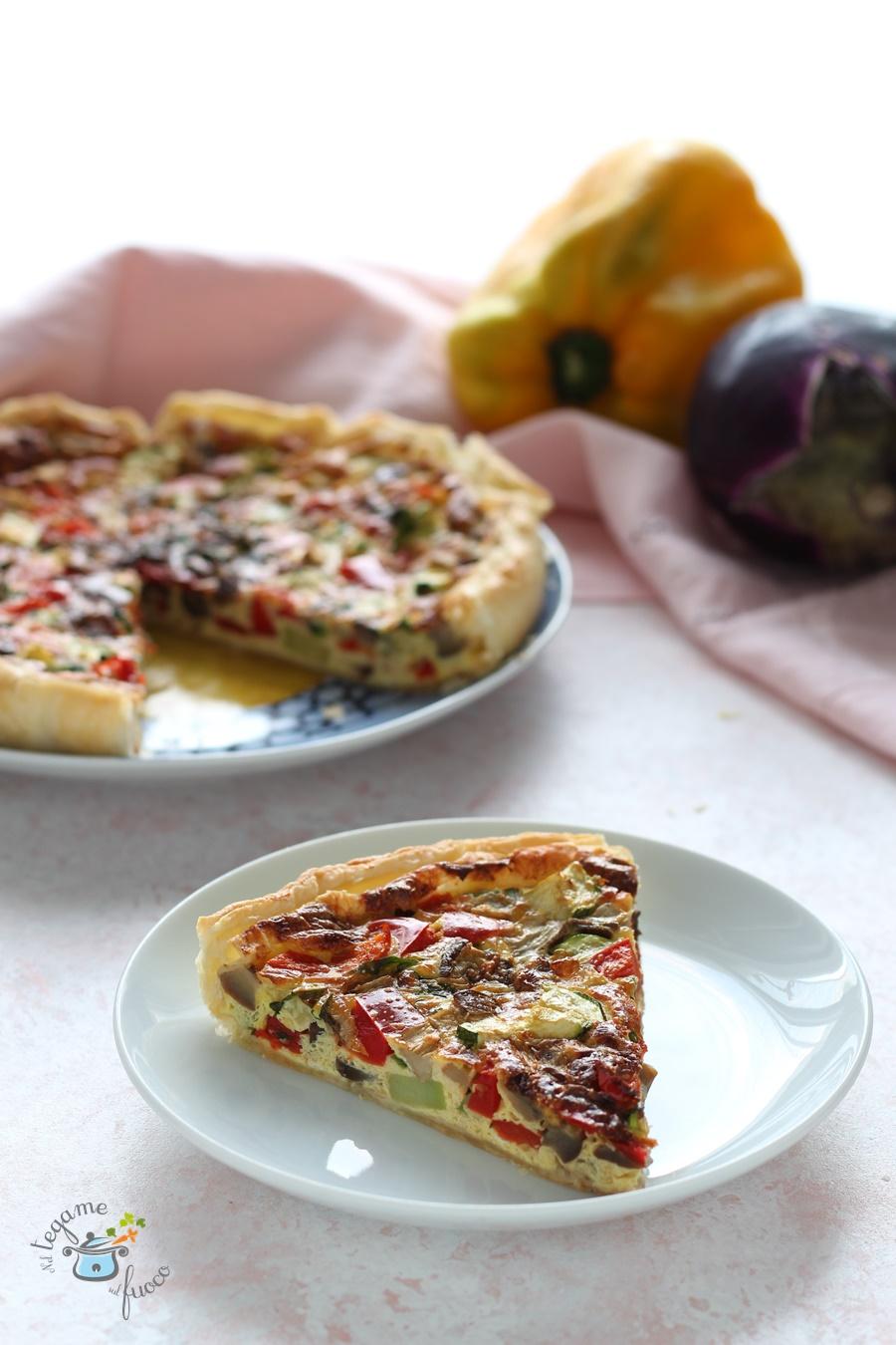 quiche con verdure al microonde ricetta