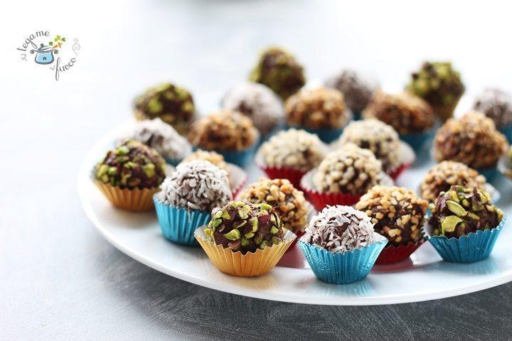 praline al cioccolato senza cottura e senza zucchero