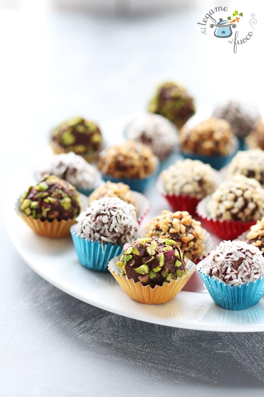 tartufi al cioccolato senza zucchero