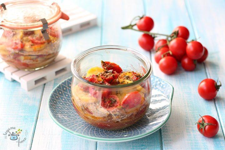 Tortino di alici e patate in vasocottura