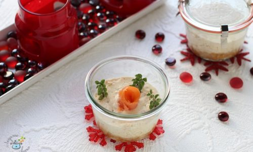 Cheesecake salata in vasocottura