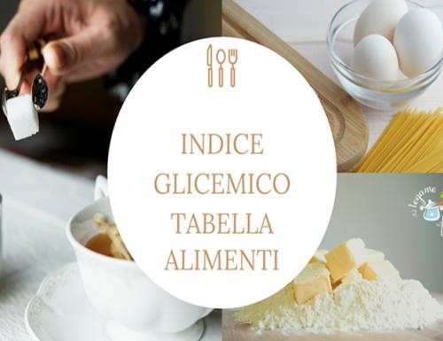 Indice glicemico tabella alimenti