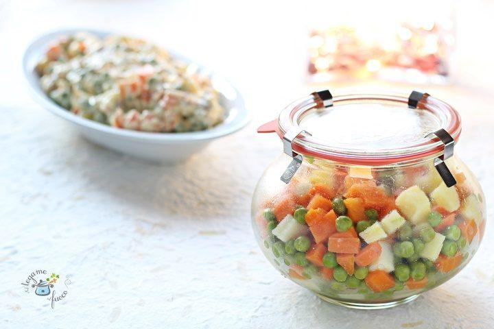 base per insalata russa in vasocottura al microonde