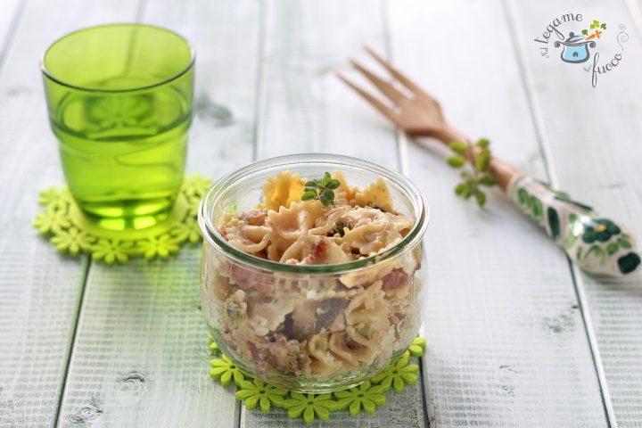 Pasta con zucchine in vasocottura