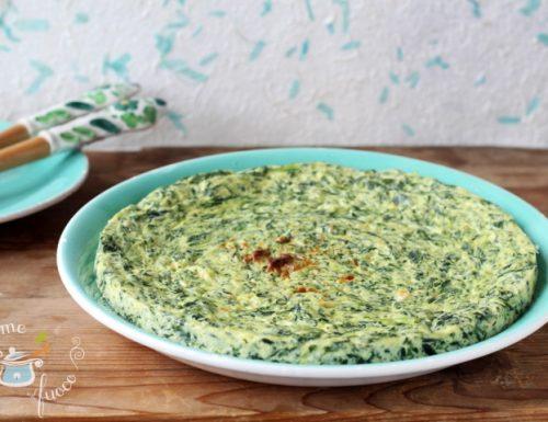 Frittata di spinaci e ricotta al microonde