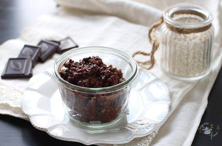 Risolatte al cioccolato in vasocottura