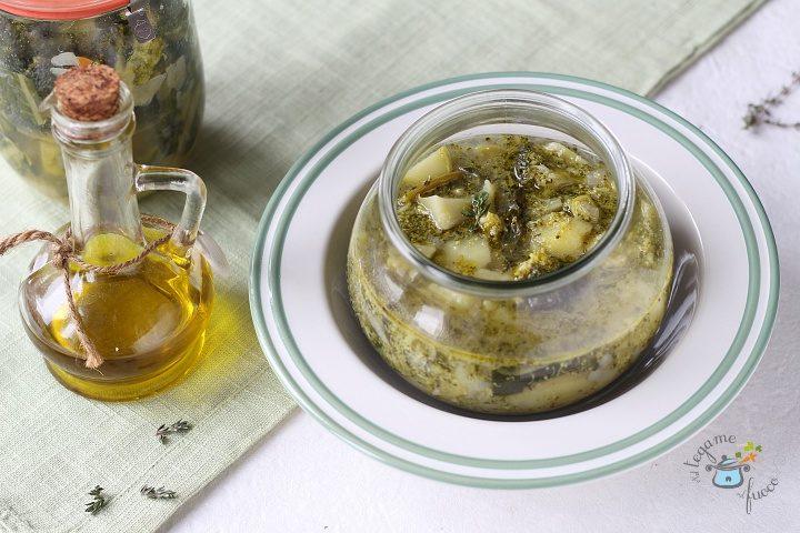 zuppa di broccoli e patate in vasocottura al microonde