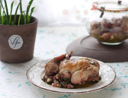 Coniglio in potacchio in vasocottura