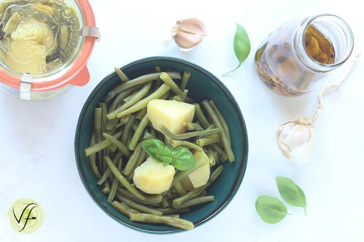 fagiolini con patate in vasocottura
