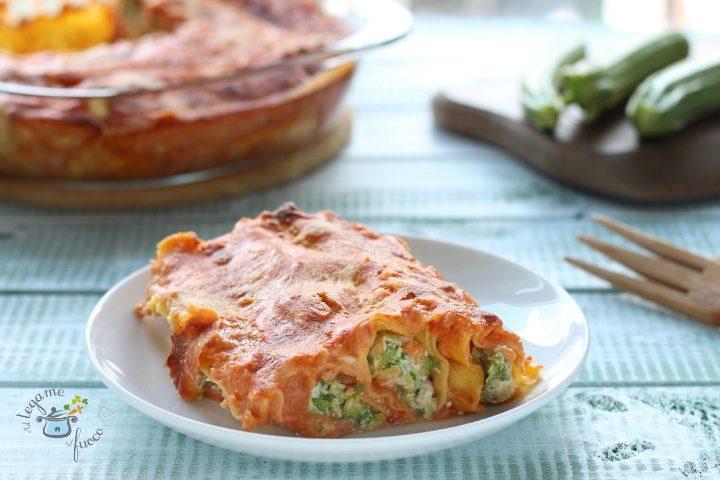 Cannelloni con ricotta e zucchine al microonde