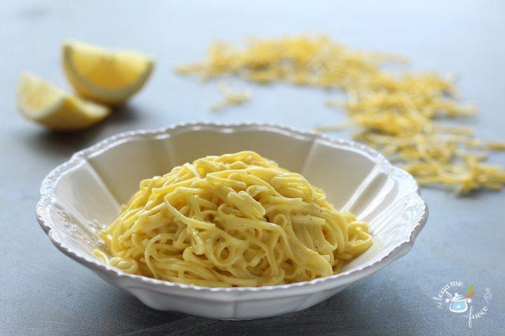ricetta tajarin al limone e panna