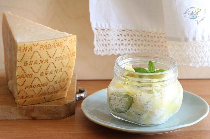 Lasagnetta con Grana Padano DOP e zucchine in vasocottura