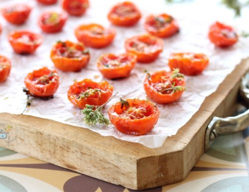 Pomodorini confit al microonde