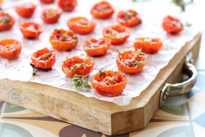 ricetta pomodorini confit al microonde