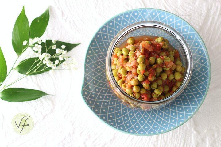 Piselli al pomodoro in vasocottura
