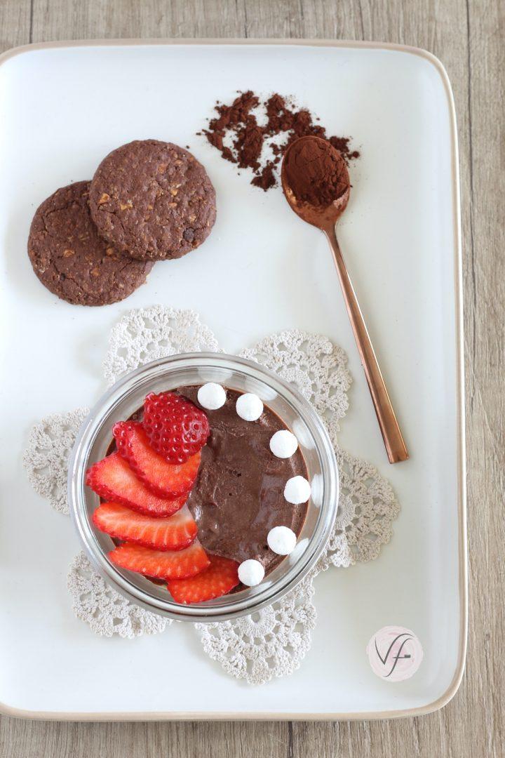 cheesecake al cioccolato cotta in vasocottura al microonde