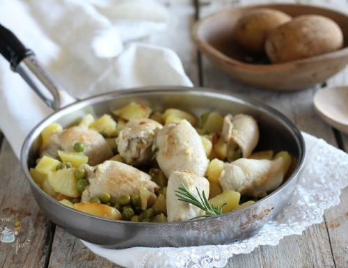 Involtini di pollo con patate e piselli