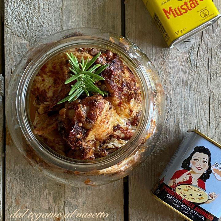 alette di pollo in salsa bbq in vasocottura