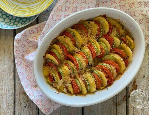 Teglia di verdure gratinate al microonde