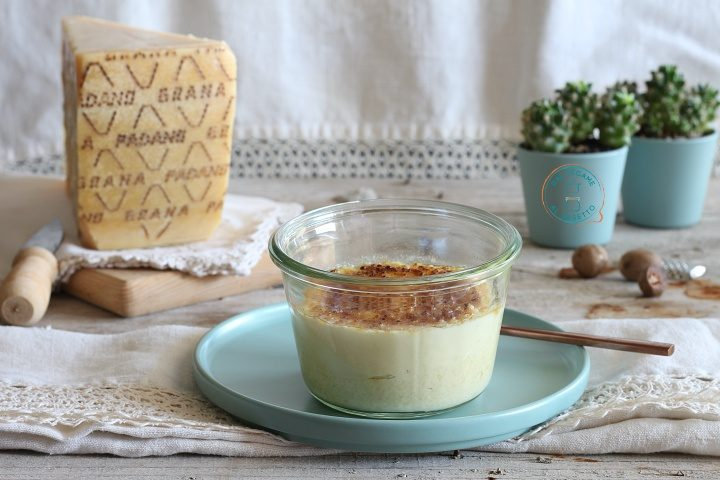 Creme brulèe salata in vasocottura