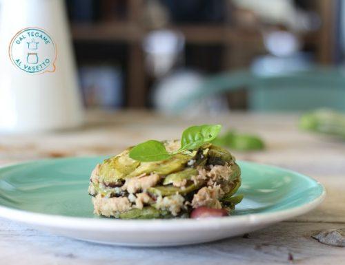 Zucchine con tonno in vasocottura