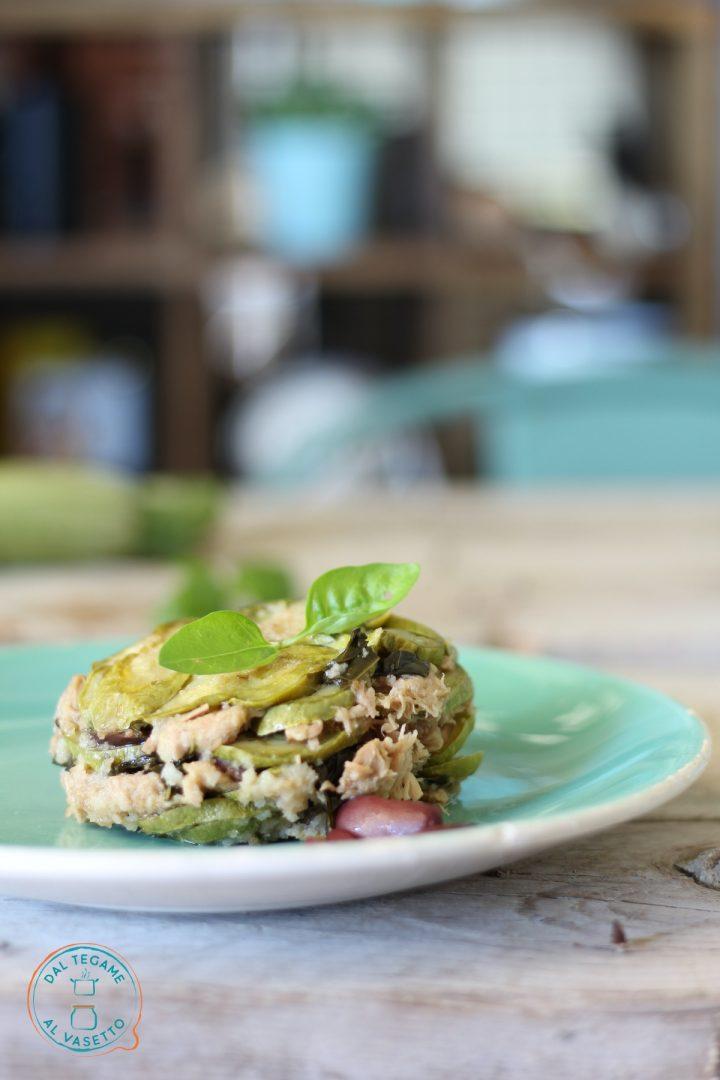 tortino di zucchine con tonno