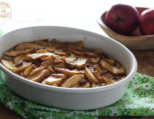 Clafoutis di mele senza zucchero