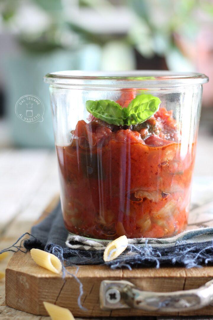 sugo di melanzane alla siciliana in vasocottura